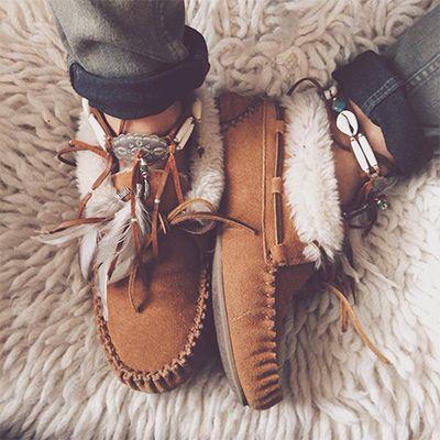 chaussures tons naturels bohème