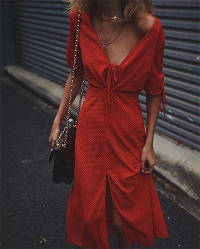 robe rouge bohème